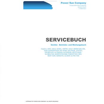 Geräte- Betriebs- und Wartungsbuch für alle Sonnenbänke, Ergoline ...
