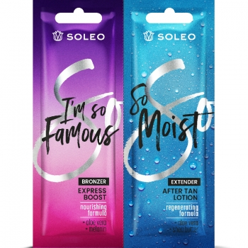 Soleo I`M SO FAMOUS bronzer with aloe double sachet  2 x 15ml