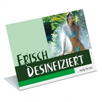Aufsteller Neutral Frisch Desinfiziert Ready for Tan